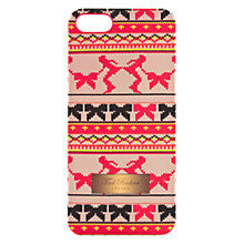 Buy Ted Baker Printed iPhone 5 & 5s Case, Fair Isle Online at johnlewis.com