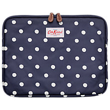 "Buy Cath Kidston Dot 13"" Laptop Sleeve, Navy Online at johnlewis.com"