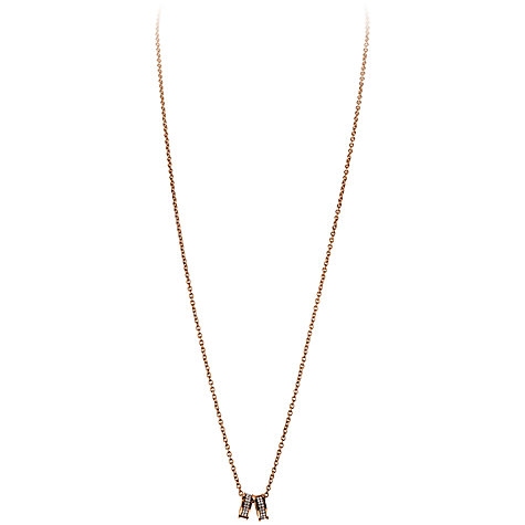 Buy Dyrberg/Kern Fermi Swarovski Crystal Double Band Pendant Necklace Online at johnlewis.com