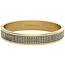Buy Dyrberg/Kern Heli Gold Swarovski Bangle Online at johnlewis.com