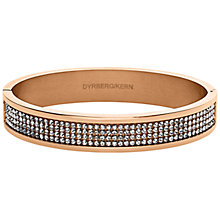 Buy Dyrberg/Kern Heli Rose Gold Swarovski Bangle Online at johnlewis.com