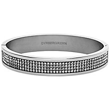 Buy Dyrberg/Kern Heli Silver Swarovski Bangle Online at johnlewis.com