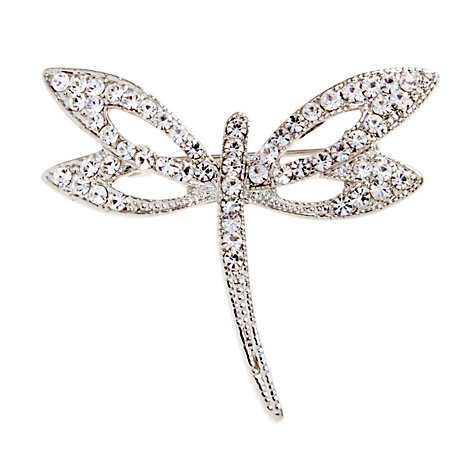 Buy John Lewis Dragonfly Crystal Brooch, Silver Online at johnlewis.com
