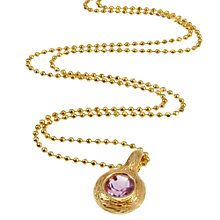 Buy Azuni 24ct Gold Plated Nest Circle Amethyst Pendant Online at johnlewis.com
