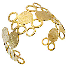 Buy Azuni 24ct Gold Plated Circles Cuff Online at johnlewis.com