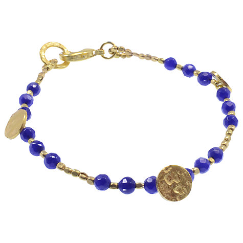 Buy Azuni 24ct Gold Plated Round Disc Bead Bracelet Online at johnlewis.com