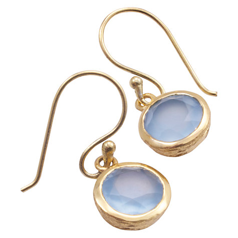 Buy Azuni 24ct Gold Plated Circle Drop Earrings Online at johnlewis.com