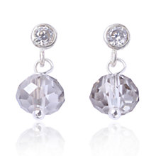 Buy Joma Chloe Silver Bead Faceted Crystal Drop Stud Earrings Online at johnlewis.com