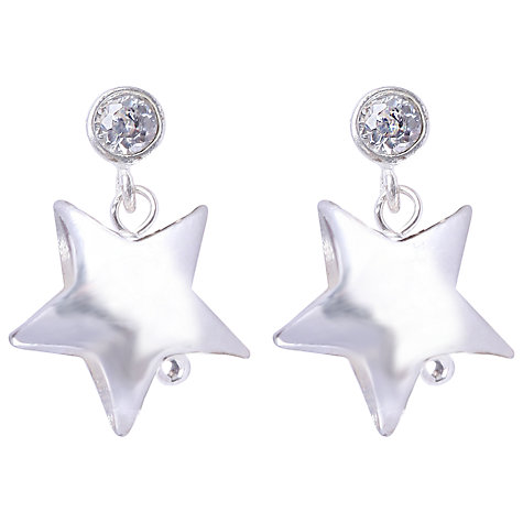 Buy Joma Celeste Silver Star Crystal Stud Earrings Online at johnlewis.com