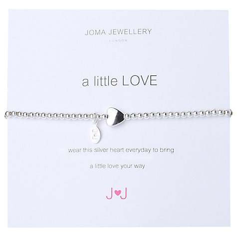 Buy Joma A Little Love Silver Heart Bracelet Online at johnlewis.com