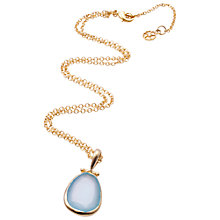 Buy Azuni 24ct Gold Plated Tear Drop Pendant Online at johnlewis.com