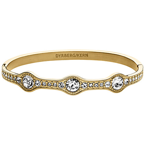 Buy Dyrberg/Kern Egynes Gold Swarovski Bangle Online at johnlewis.com