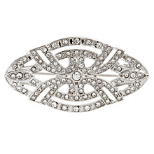 Buy John Lewis Diamante Detail Vintage Brooch, Rhodium Online at johnlewis.com