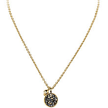Buy Dyrberg/Kern Diriani Swarovski Crystal Circle and Skull Detail Pendant, Gold Online at johnlewis.com