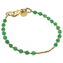 Buy Azuni 24ct Gold Plated Bead Bracelet Online at johnlewis.com