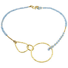 Buy Azuni 24ct Gold Plated Irregular Hoop Necklace Online at johnlewis.com