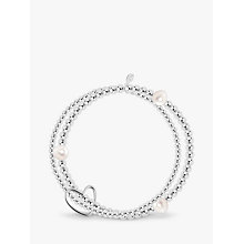 Buy Joma Lila White Pearl Polished Bead Bracelet, Silver Online at johnlewis.com