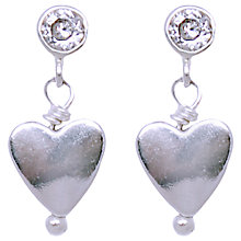 Buy Joma Georgia Silver Hearts Crystal Stud Earrings Online at johnlewis.com
