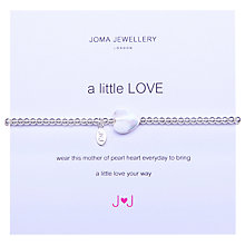 Buy Joma A Little Love Mother of Pearl Heart Bracelet Online at johnlewis.com