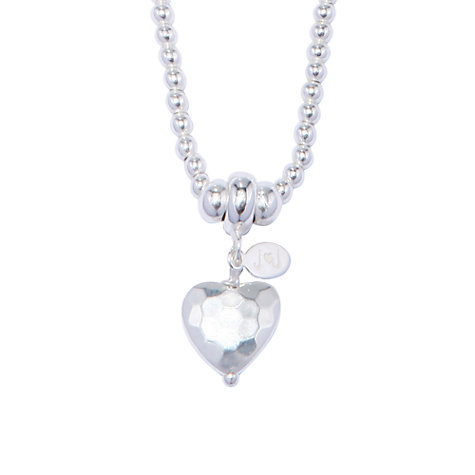 Buy Joma Mimi Silver Textured Heart Pendant Online at johnlewis.com