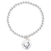 Buy Joma Emily Silver Ball Heart Bracelet Online at johnlewis.com