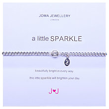 Buy Joma A Little Sparkle Silver Plated Bead Stretch Bracelet Online at johnlewis.com