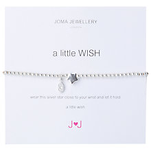Buy Joma A Little Wish Silver Star Bracelet Online at johnlewis.com