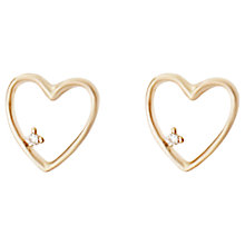 Buy Joma Heart Gold Plated Stud Earrings Online at johnlewis.com