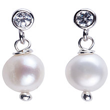 Buy Joma Chloe White Pearl Crystal Stud Earrings Online at johnlewis.com