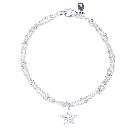 Buy Joma Alexis Silver Plated Pave Star Bracelet Online at johnlewis.com