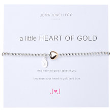 Buy Joma A Heart of Gold Bead Stretch Bracelet, Silver / Gold Online at johnlewis.com