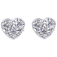 Buy Joma Loulou Pave Crystal Heart Stud Earrings Online at johnlewis.com