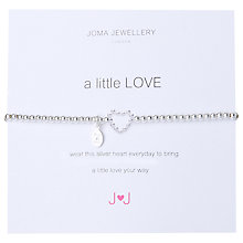 Buy Joma A Little Love Silver Plated Bead Stretch Bracelet Online at johnlewis.com
