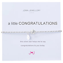Buy Joma A Little Congratulations Silver Plated Bead Stretch Bracelet Online at johnlewis.com