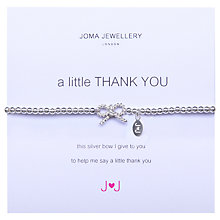 Buy Joma A Little Thank You Silver Plated Bead Stretch Bracelet Online at johnlewis.com