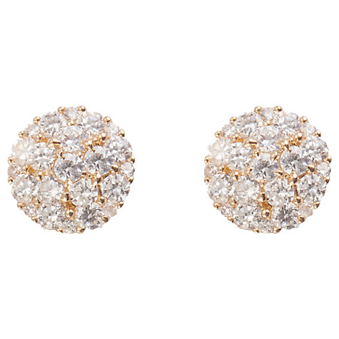 Buy Joma Gold Plated Crystal Cluster Stud Earrings Online at johnlewis.com