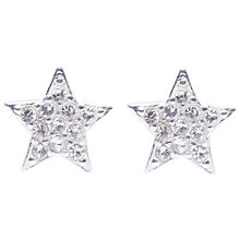 Buy Joma Alexis Silver Plated Pave Star Stud Earrings Online at johnlewis.com