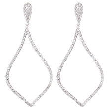 Buy Joma Large Tear Silver Plated Diamante Drop Earrings Online at johnlewis.com