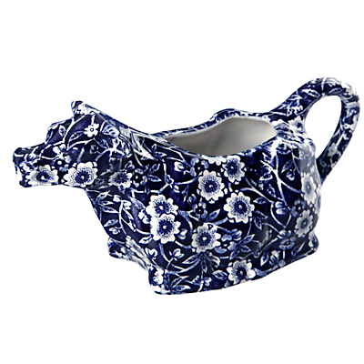 Burleigh Blue Calico Cow Creamer
