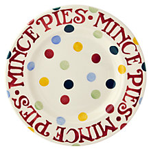 Buy Emma Bridgewater Christmas Polka Dot Mince Pie Plate Online at johnlewis.com
