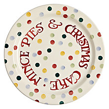 Buy Emma Bridgewater Christmas Polka Dot Christmas Cake Plate Online at johnlewis.com