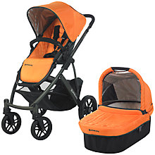 Buy Uppababy Vista Pushchair, Drew Orange Online at johnlewis.com