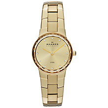 Buy Skagen SKW2073 Women's Classic Faceted Glass Topring Bracelet Strap Watch, Gold Online at johnlewis.com