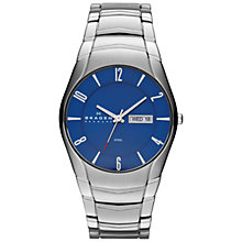 Buy Skagen SKW6033 Men's Stainless Steel Bracelet Watch, Blue Online at johnlewis.com