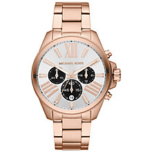 Buy Michael Kors Women's Wren Stainless Steel Chronograph Watch Online at johnlewis.com
