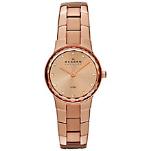 Buy Skagen SKW2074 Women's Stainless Steel Bracelet Strap Watch, Rose Gold Online at johnlewis.com