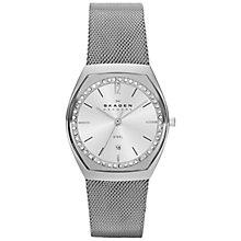 Buy Skagen SKW2049 Women's Klassik Mesh Bracelet Strap Watch, Silver Online at johnlewis.com