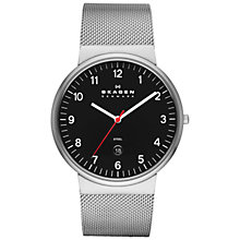 Buy Skagen Men's Klassic Three-Hand Date Mesh Strap Watch Online at johnlewis.com