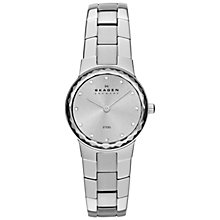 Buy Skagen Women's Classic Faceted Glass Topring Bracelet Strap Watch Online at johnlewis.com