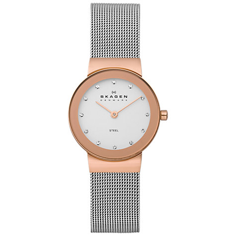 Buy Skagen 358SRS Women's Stainless Steel Bracelet Watch, Rose Gold Online at johnlewis.com